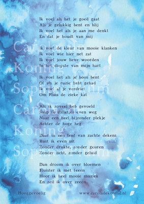 Kaart met prachtig gedicht over hooggevoeligheid van Carola de Koning