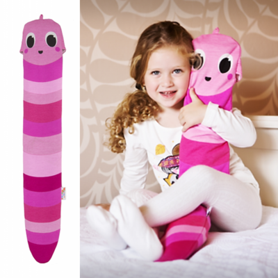 YuYu wormvriendje om de teentjes te warmen in bed! Bijna uitverkocht, enkel nog roze.