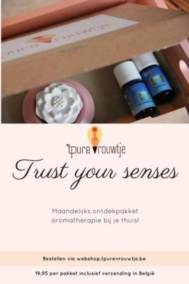 Trust your Senses - maandelijks ontdekpakket aromatherapie