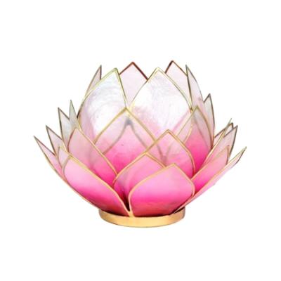 Lotus sfeerlicht gemaakt van capiz schelp - groot - roze/lichtroze - Nog 1tje in voorraad!