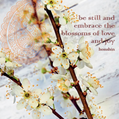 Eco wenskaart blanco 'Be still and embrace' – dubbel met enveloppe