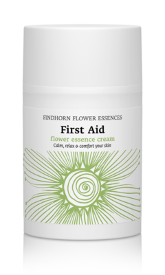 Findhorn First Aid Flower Essence creme met sandelhout en frankincense - brengt emoties tot rust