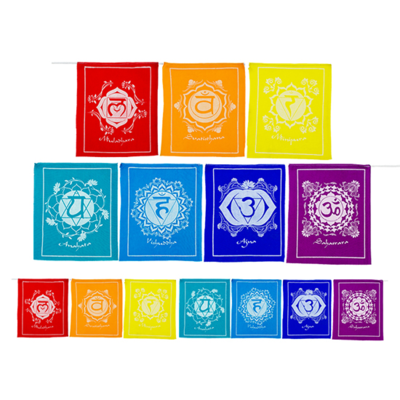 Chakravlaggen - helend effect in je yoga of meditatieruimte