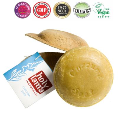 """Antibacteriële Ayurvedische zeep """"Curcuma"""" met kokosolie en curcuma"""