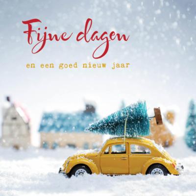 Eco Kerstkaart 'Fijne dagen' – dubbel met enveloppe
