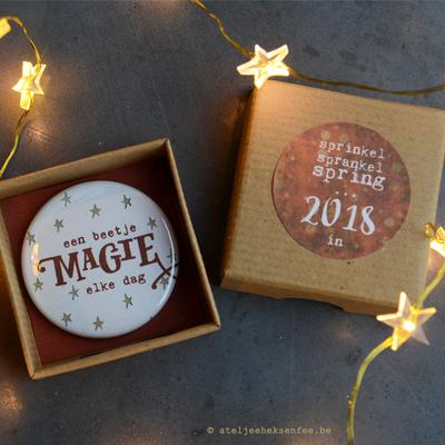 'Magie' magneet in lief doosje - fijn eindejaarskadootje!