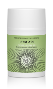 Findhorn First Aid Flower Essence aloe vera gel met sandelhout en frankincense - brengt emoties tot rust